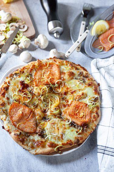 Ma recette de pizza au saumon fumé