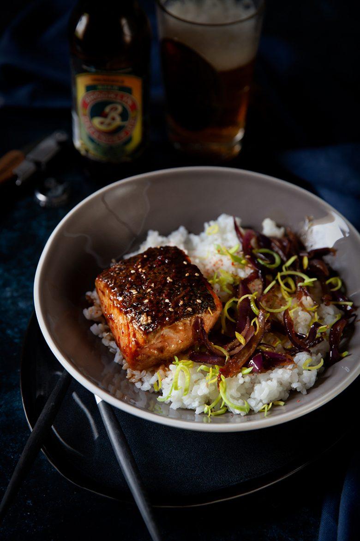 Ma recette de saumon teriyaki aux oignons confits