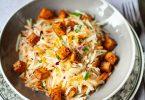 Recette de salade de chou-rave râpé et tofu laqué au sirop d'érable