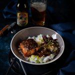 Recette de saumon teriyaki aux oignons confits