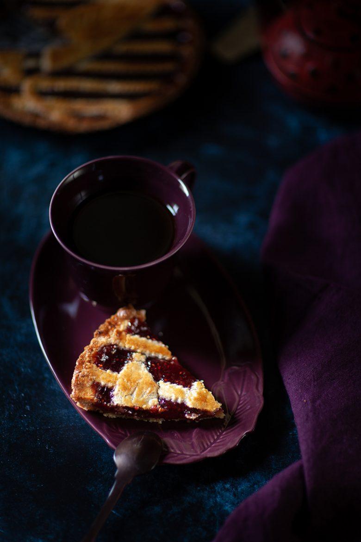 Recette de tarte à la confiture de framboise à la manière d'une linzer torte