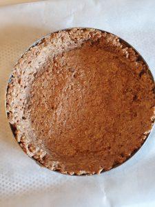 comment étaler la pâte à tarte à base de granola