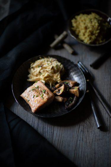 Ma recette de saumon à la réglisse et de céleri rémoulade au gingembre