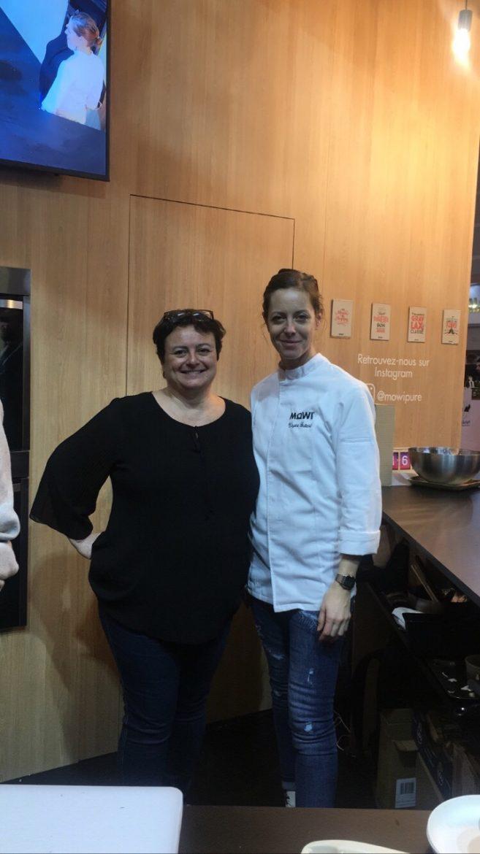Anne Reverdy et Virginie Guitard sur le stand de Mowi Pure au Salon de l'Agriculture 2020
