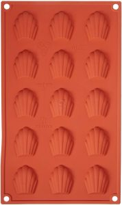 Moule en silicone de mini madeleines