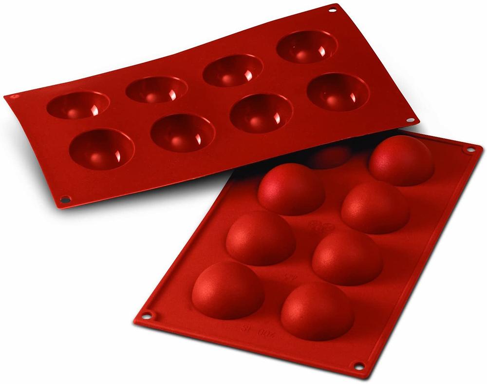 Moule de 8 demi-sphères en silicone