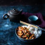 Poulet au gingembre frais caramélisé et riz basmati