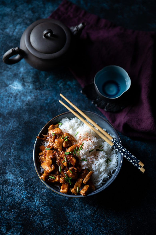 Recette de poulet au gingembre frais et caramélisé