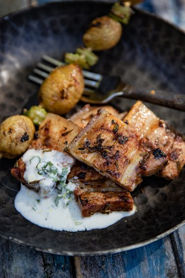 Poitrine de porc au barbecue, la recette