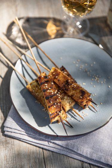 Brochettes de tofu au sésame, ma recette