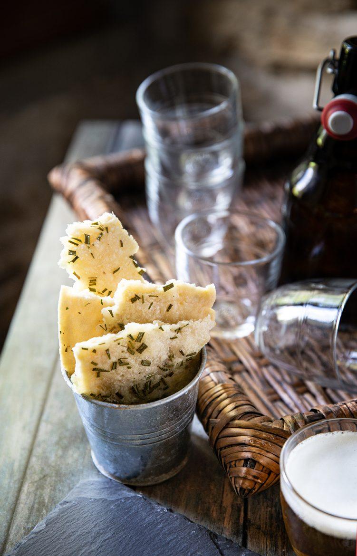 Feuilles croquantes à l'huile d'olive et romarin, la recette