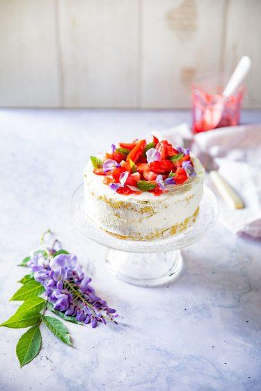 Ma recette de génoise aux fraises et à la chantilly, recette facile à faire, astuce pour une chantilly qui tient