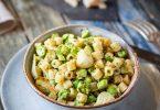 Recette facile de pâtes courtes aux asperges vertes et pesto d'ortie ou pesto verde