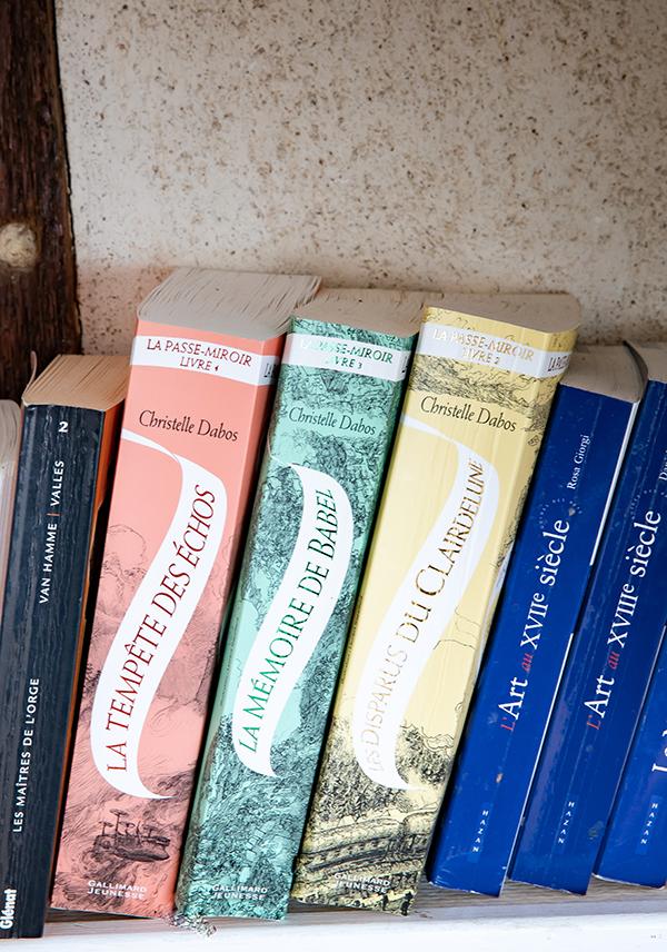 Tranches de livres de la Passe-Miroir de Christelle Dabos
