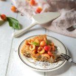 Tarte financier aux cerises, la recette avec les cerises cuites et fraîches