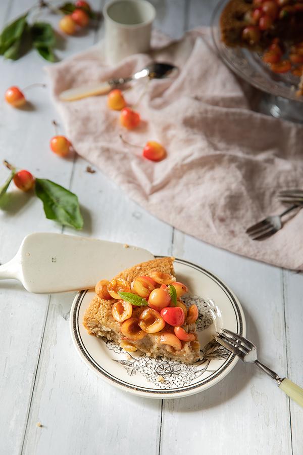 Ma recette de tarte aux cerises à base de pâte à financier aux amandes