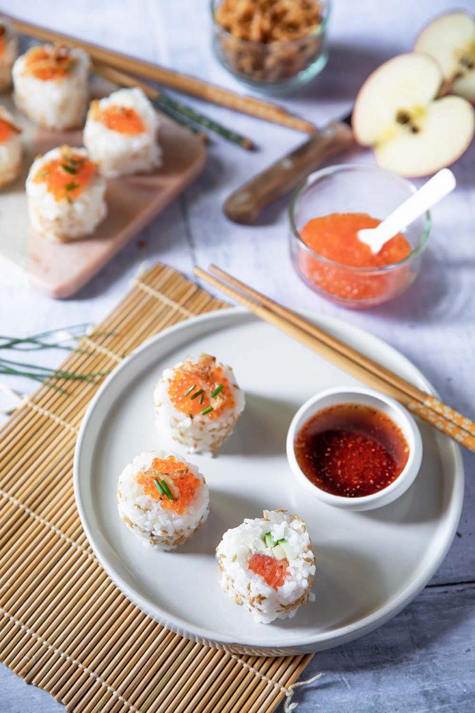 California rolls à la truite fumée, une recette de sushi gourmands