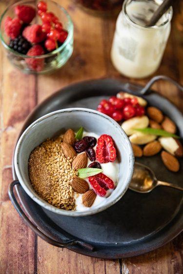 Mon bol de yaourt aux graines pour le petit déjeuner