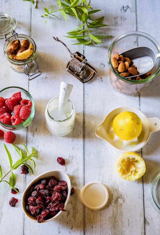 Les ingrédients de ma recette de petits déjeuner healthy