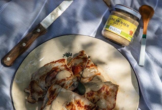 Recette de saltimbocca au fromage et anchoïade