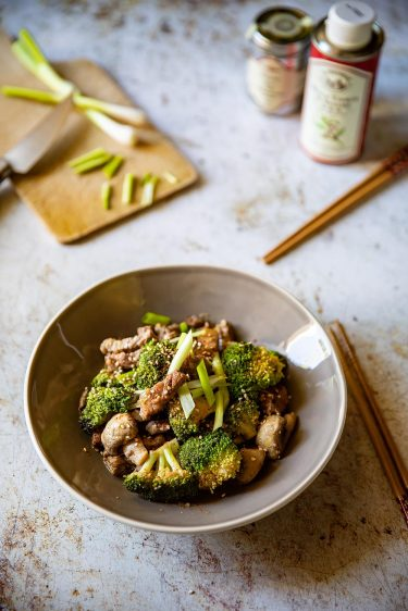 Ma recette de boeuf aux brocoli et aux champignons, facile et rapide