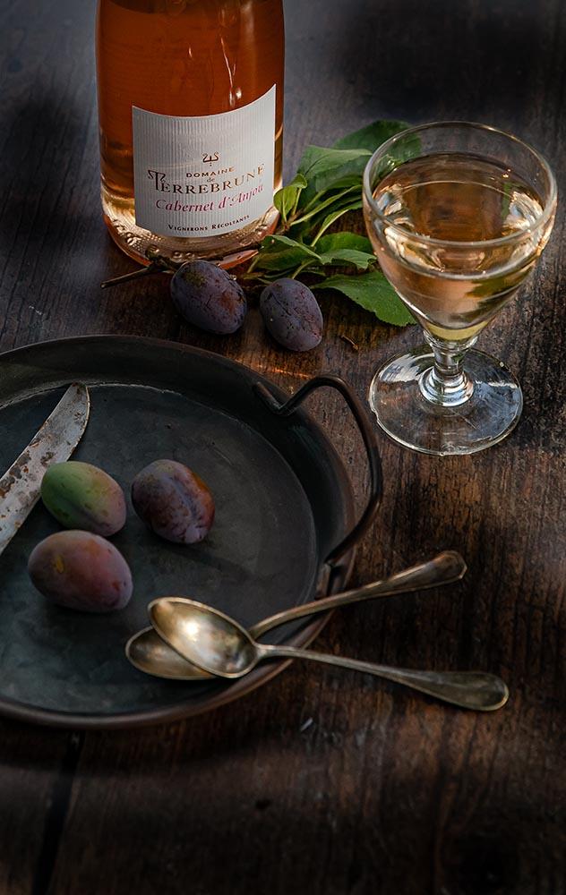 Cabernet d'anjou et prunes quetsches, le bon accord