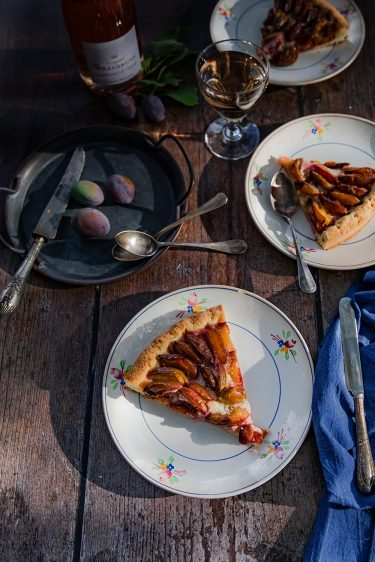 Ma recette de tarte aux prunes quetsches et amande