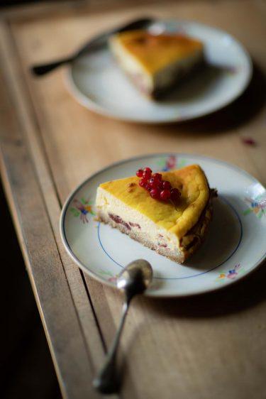 Recette de tarte à la ricotta et aux cranberries