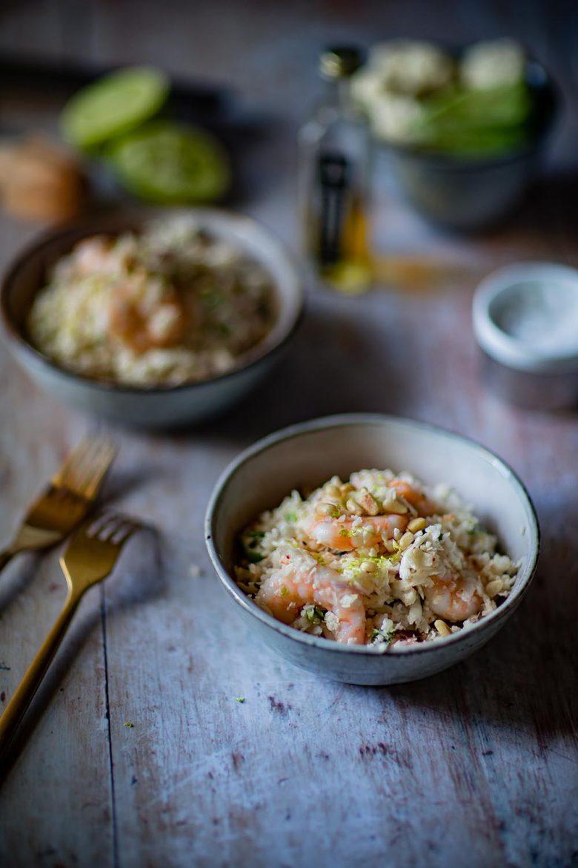 Taboulé de chou-fleur aux crevettes, la recette d'une salade keto et ultra fraîche
