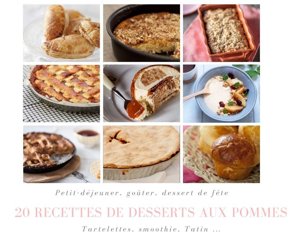 20 recettes de desserts aux pommes