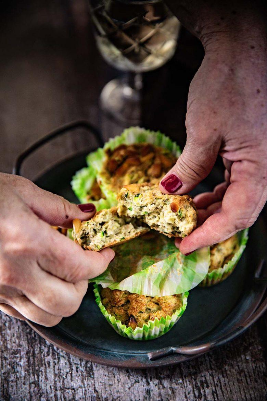 Muffins aux courgettes et aux pignons de pin sans lactose, recette facile