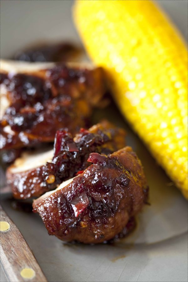 Recette de filet mignon laqué à la sauce barbecue, maïs en épi au four