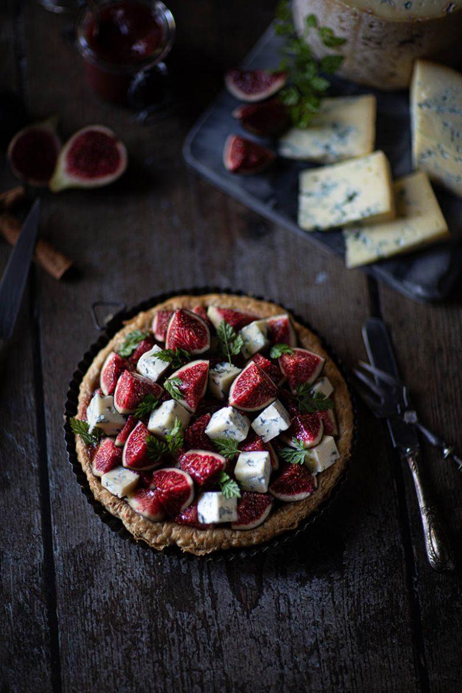 Ma recette de tarte à la fourme de Montbrison, compote de figues et figues fraîches