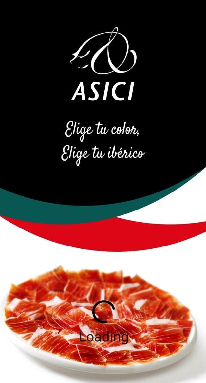 L'application mobile phone de l'association Asici pour le jambon ibérique