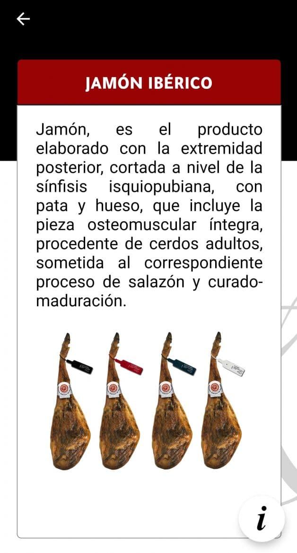 Explication du jambon sur l'application Iberico de l'Asici