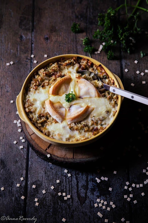 Ma recette de croziflette équilibrée, gratin savoyard aux crozets et au reblochon.