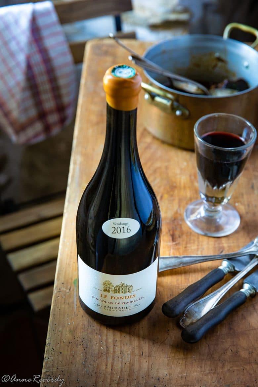 Pour accompagner le pulled beef, voici le omaine Amirault, cuvée Fondis 2016, Saint-Nicolas de Bourgueil, Cabernet franc 100%