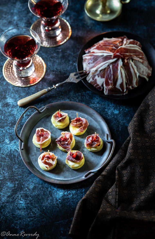 Mes deux façons de présenter le jambon ibérique, sur dôme ou sur pomme de terre