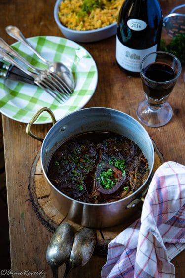 Ma recette de jarret de boeuf en pulled beef ou effilochée de boeuf au Floc de Gascaogne