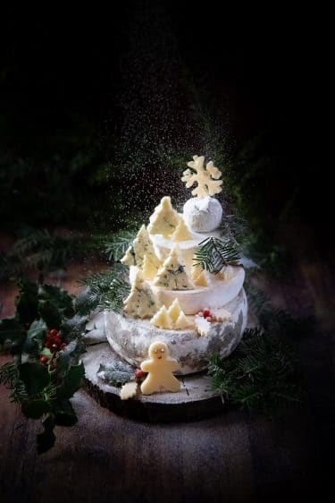 Cheese christmas cake sous la neige