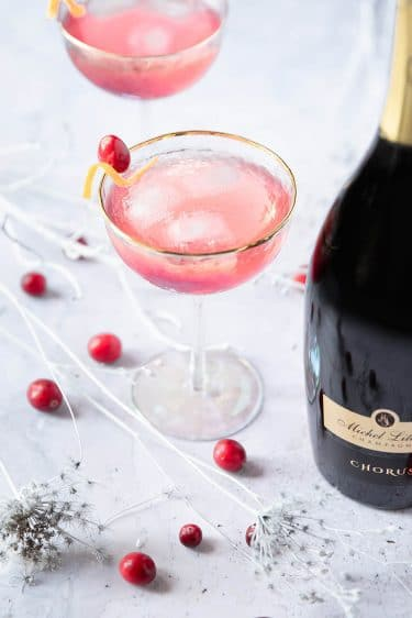 Ma recette du cocktail Cosmopolitan Royal, un Cosmopolitan au champagne