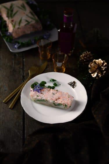 Recette de mousse de saumon en gelée, whisky Bellevoye Prune