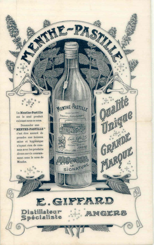 Affiche originale de la création de Menthe-Pastille de Giffard