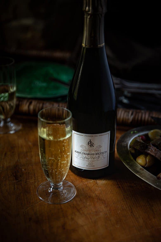 Bouteille de Champagne John Charles Ricciuti 1er cru Réserve Brut