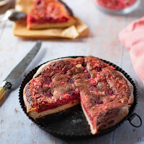 Ma recette de tarte aux pralines roses et framboises