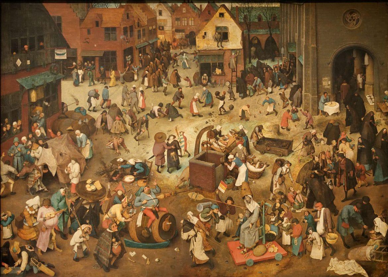 Le Combat entre Carnaval et Carême, tableau de Brueghel l'Ancien