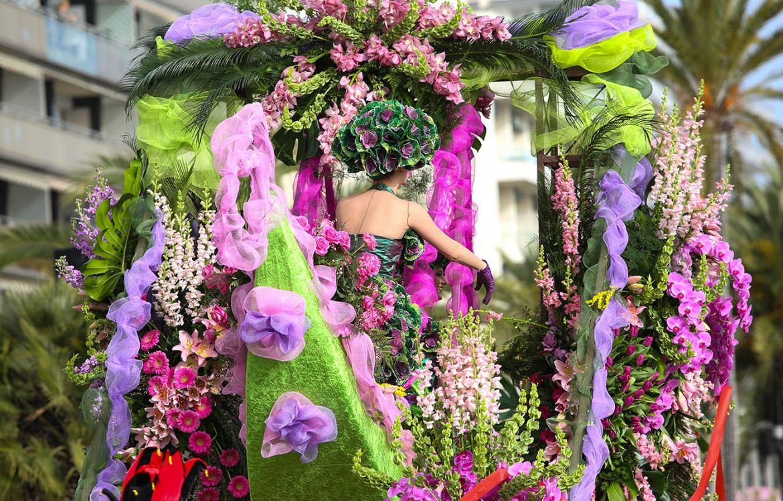 Les fleurs du carnaval de Nice
