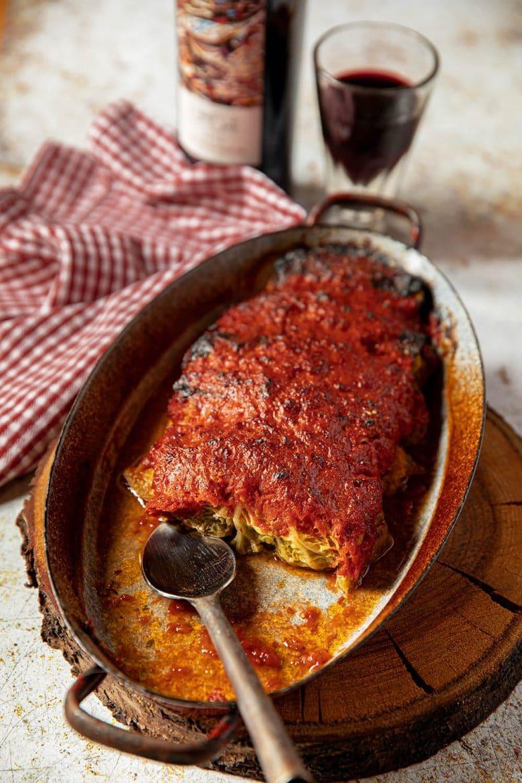 Recette de paupiettes de chou farci gratinées à la sauce tomate