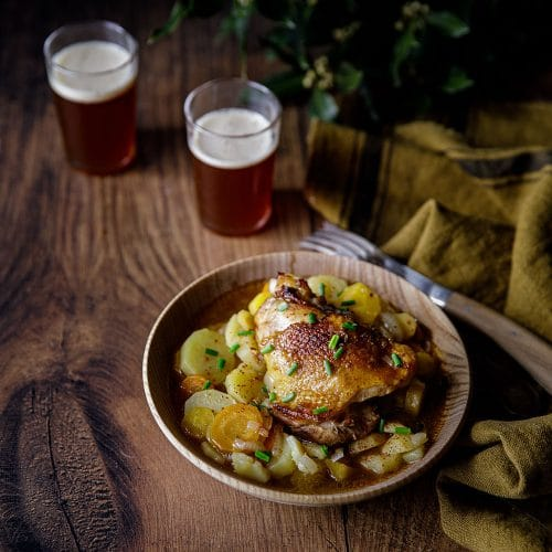 Chicken irish stew ou irish stew au poulet, une recette irlandaise