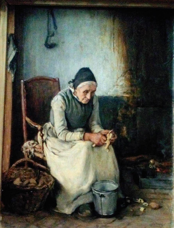 Vieille Picarde épluchant des pommes de terre, Jules Bocquet, Musée de Picardie.